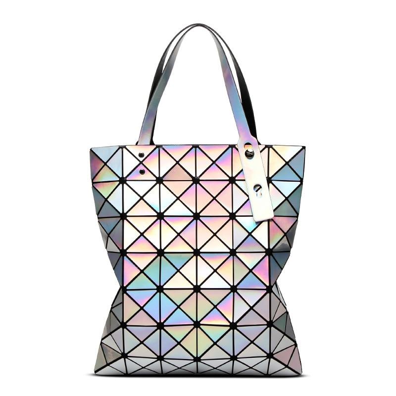 Fashion Laser Design Bag Women Geometric Tote Bag
