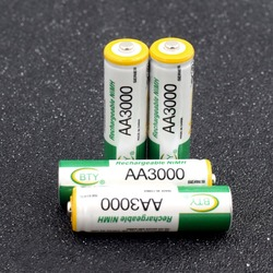 BTY 1.2V AA 3000 MAh Pre/Stay Charge Ni-MH Cells Rechargeable Nimh Batteriess AA LR6 HR6 3000mAh For Torch Remote Controls