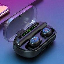 V10 TWS słuchawki Bluetooth słuchawki bezprzewodowe Bluetooth 5.0 IPX7 wodoodporne słuchawki sportowe z redukcją szumów LED cyfrowy wyświetlacz