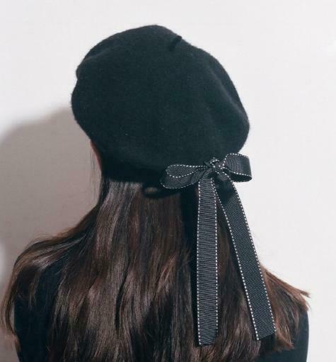 Ladies Girls Plain French Beret Hat Womens Wool Winter Autumn Black Fashion Cap Fasion Women Berets Winter Warm Hat