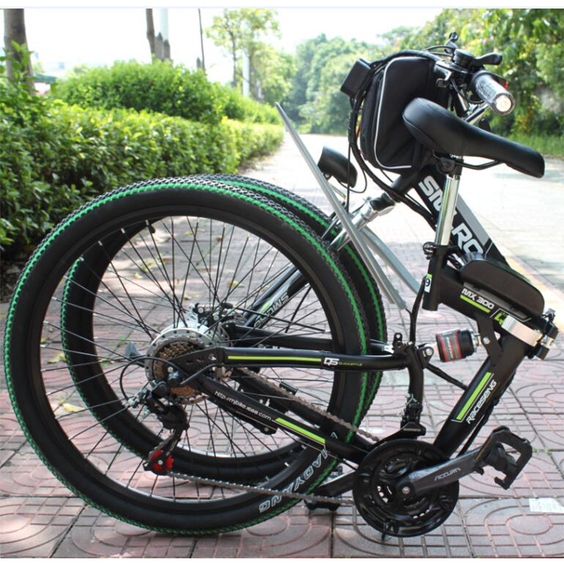 factory Price ready to ship electric bike 350W/500W 26 inch folding bike electric bicycle with 10Ah/13Ah battery 2