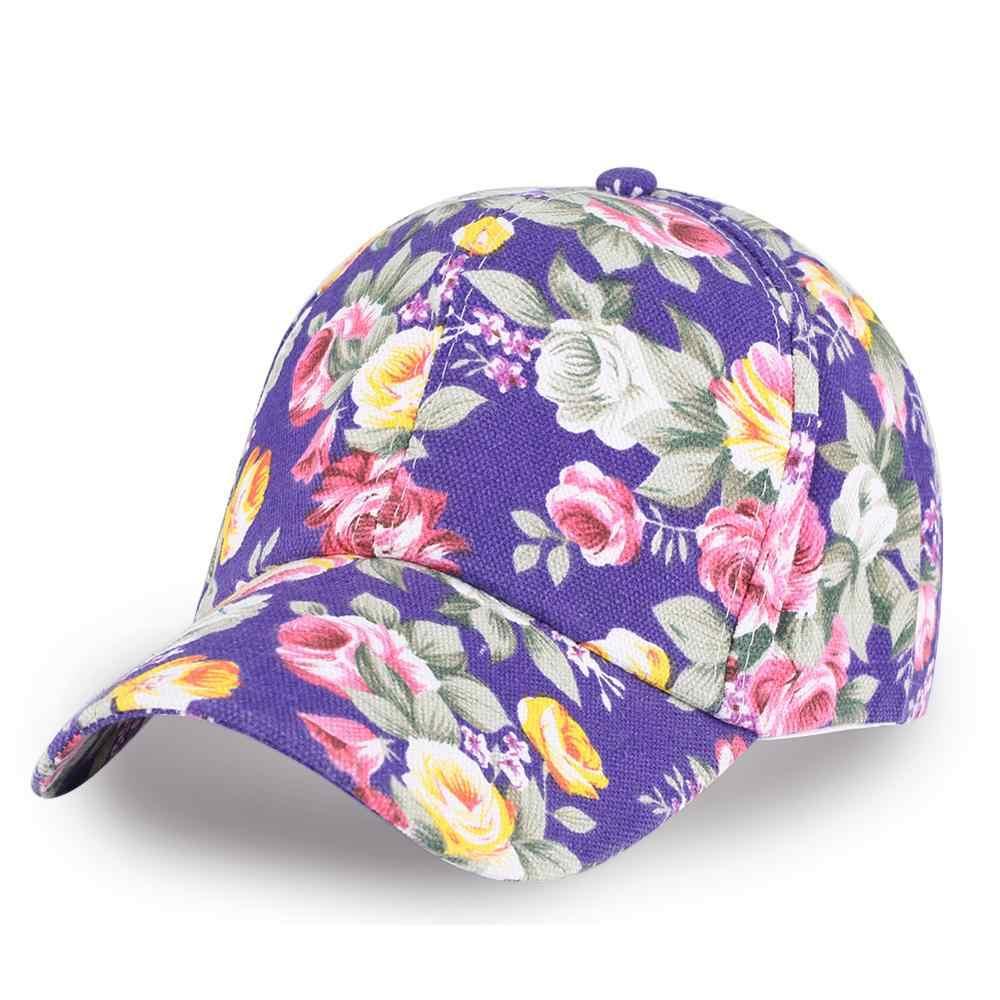 Женская бейсбольная кепка с цветочным принтом для девочек, облегающая хип-хоп кепка, Детская Летняя короткая Кепка с цветочным рисунком, Кепка для девушек, хлопковый козырек