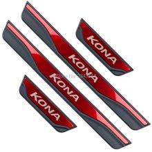 Для hyundai KONA Нержавеющая Накладка на порог, накладка на педаль, аксессуары для стайлинга автомобилей
