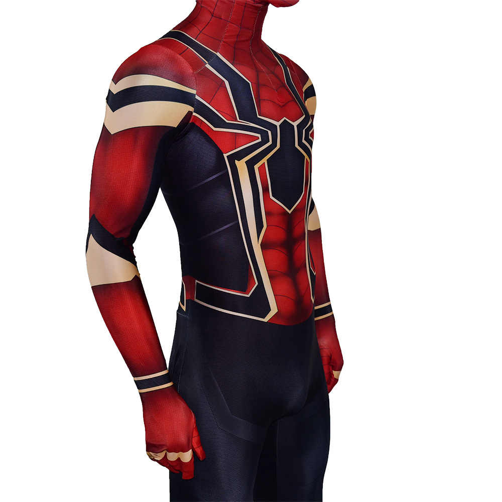 Versione avanzata Film Iron Spider Man costume 3D Stampa Spandex Spiderman Ritorno A Casa Costume Tuta di Halloween cosplay Della Tuta