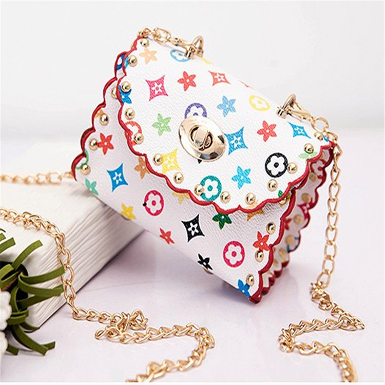 2018 Trend New Style Lace Mortise Lock Square Sling Bag Fashion Korean-style Cool CHILDREN'S Single-shoulder Bag