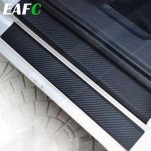 Universal Auto Tür Sill Schutz Aufkleber Film 4 stücke Anti Scratch Carbon Kratz Pedal Wachen Abdeckung Tür Sill Platte Faser aufkleber