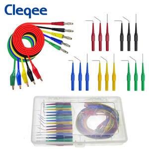 Cleqee Back-Probe-Kit Multimeter Alligator-Clip Banana-Plug Automotive-Tool Test
