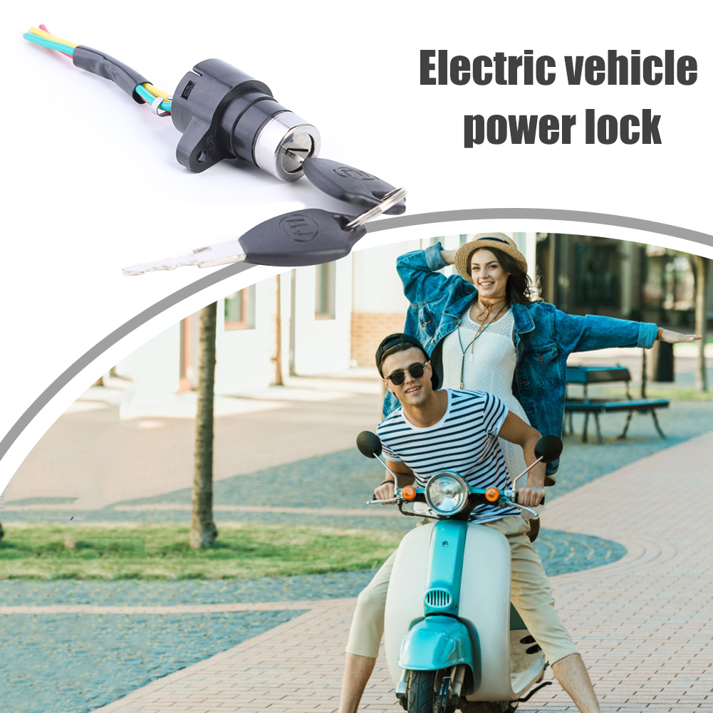 Electric Scooter Bike 2pcs Ignition Keys /& 1pc Lock Outdoor Cycling Accessories