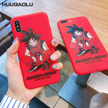 sFor iPhone XS MAX X XR XS 11 Pro Dragon Ball Jordan 23 Back Phone Case Silicone Coque Cover For iPhone 6 6S 7 8 Plus Cases Etui(China)