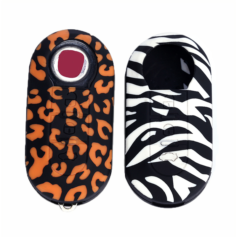 3 Buttons Car-styling Silicone Key Protect Bag Flip Car Key Cover Case Fob For FIAT 500 500L ABARTH Panda Punto Bravo Protector
