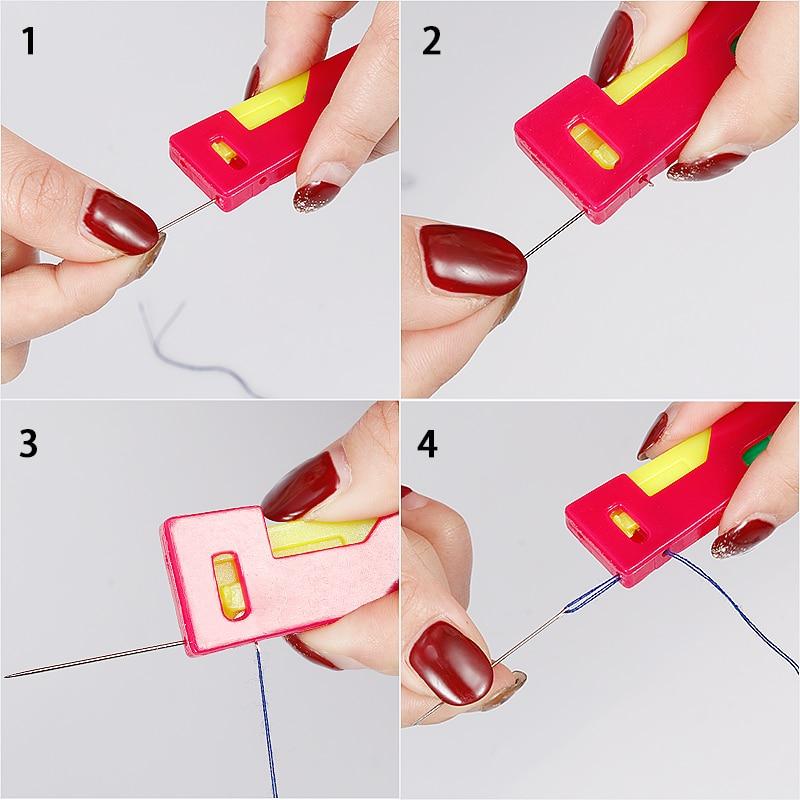Automatic agulha threader dispositivo idosos fácil de usar guia de linha da agulha Agulha Guia Fácil de Usar Ferramenta Enfiador Idosos Dispositivo