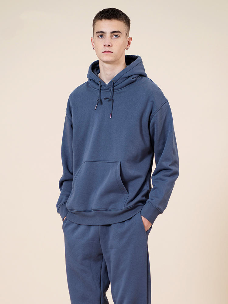 Hooded Jogger Texture-Pullovers Sweatshirts-Quality Basic Autumn Thick Winter Solid SIMWOOD