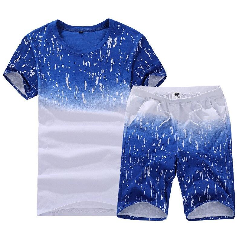 Summer New Style Short Sleeve T-shirt Teenager Half Sleeve Advertising Shirt Men's Sports Suit