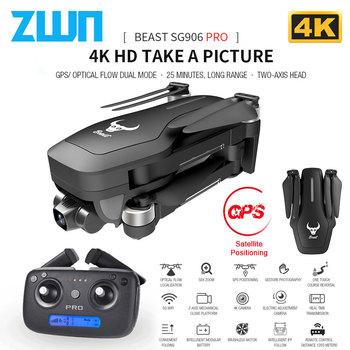 SG906 Pro GPS Drone z Wifi FPV 4K kamera HD dwuosiowa antywstrząsowa samostabilizująca Gimbal bezszczotkowy Quadcopter Vs Sjrc F11 Pro tanie i dobre opinie 4 k hd nagrywania wideo Kamera w zestawie 1 3 0 cali 1200M 4 kanałów App kontroler Pilot zdalnego sterowania Połączenia wi-fi