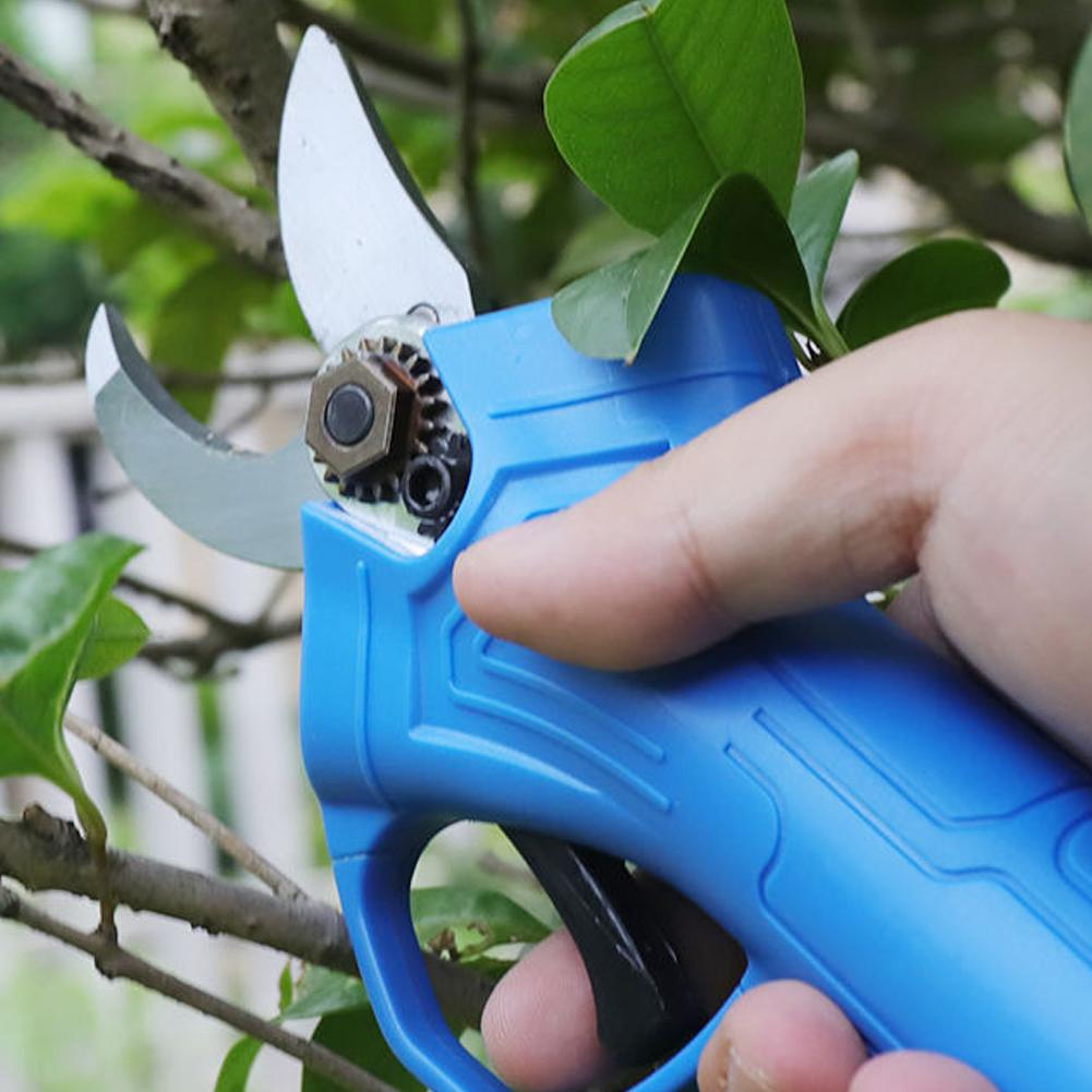 Tools : 600W 21V Cordless Pruning Shears Garden Grafting Secateur Pruning Plant Shears Boxes Electric Hand Cutter With Lithium Battery