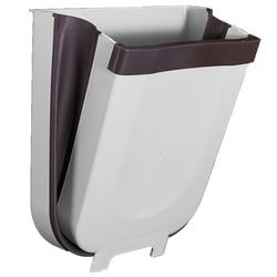 Kosz na śmieci ściana kuchenna do montażu na ścianie kosz na śmieci składany kosze na śmieci 8L duża pojemność kosz na śmieci samochodowy kosz na śmieci biały|Kosze na śmieci|   -