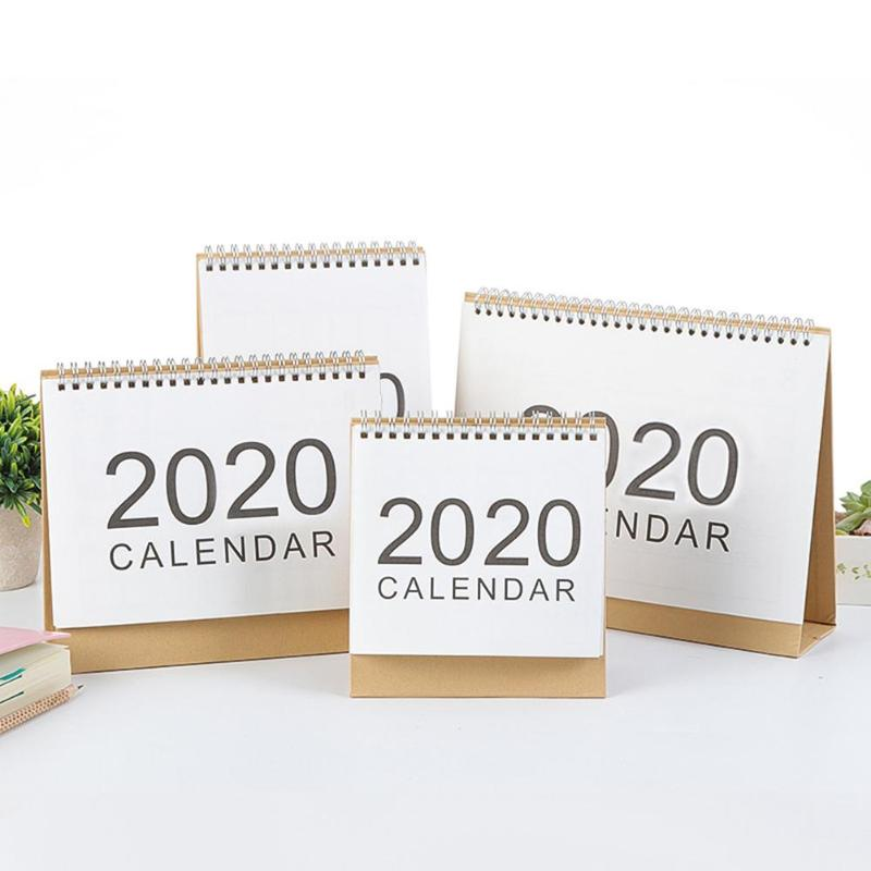 Table 2020 Calendar Double Glue 365 Days Daily Planner Notes Kraft Paper Creative Checker Agenda Home Office Notepad Home Decor