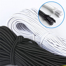 Round Rope Rubber-Band Elastic-Line Sewing-Accessories Black White DIY 5M 3MM/4MM High-Quality