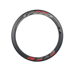 Image 2 - מלא פחמן גלגלי 38/50 38mmclincher מסלול אופני גלגלים 700Cx23 3 K/UD מט Novatec רכזת 20/24 חורים אחת הילוך קבוע גלגל
