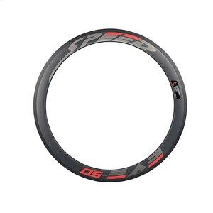 Image 2 - Paire de roues en carbone 38/50 mmpneu roues de vélo de piste 700Cx23 3 K/UD moyeu Novatec mat 20/24 trous roue dentée fixe unique