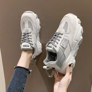 Image 2 - נעלי נשים פלטפורמת דירות חדש מעצב לנשימה רשת נעליים יומיומיות נקבה אופנה מאמני תחרה עד פנאי נשים מגופר