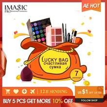 IMAGIC makyaj seti şanslı çanta hediye, göz farı paleti yağ Eyeliner ruj kozmetik allık hediye kutu seti doğum günü hediyesi