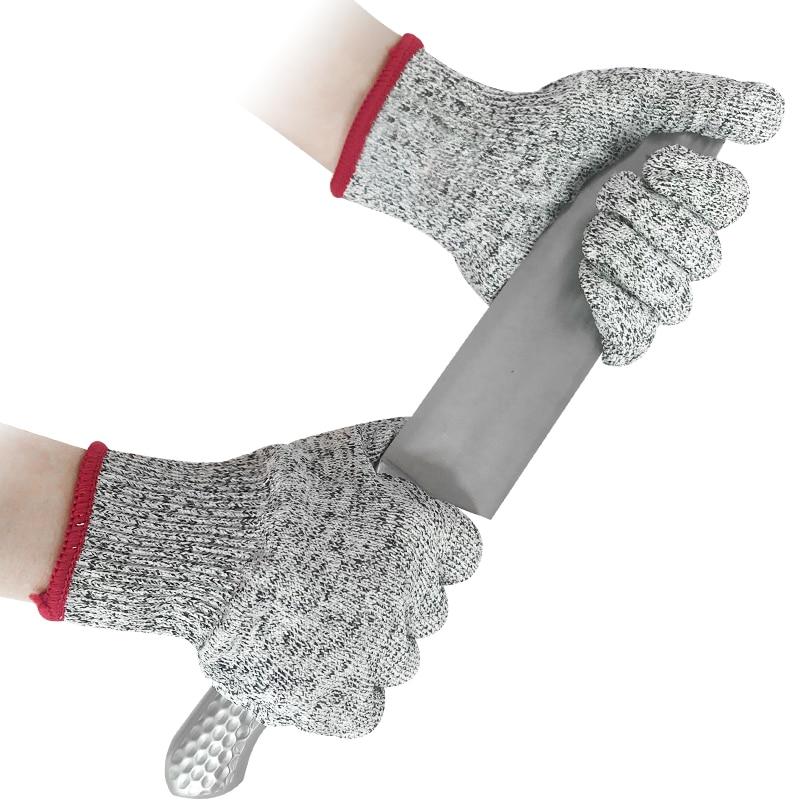 Anti Cut Gloves Cut Proof Cut Resistant Gloves Food Grade HPPE EN388 ANSI Level 5 Protection Safety Work Kitchen Gloves