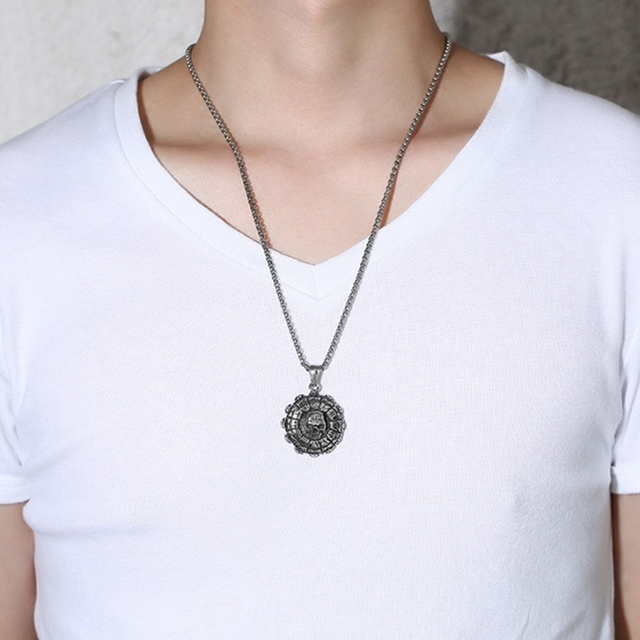 NUMERALS SKULL NECKLACE