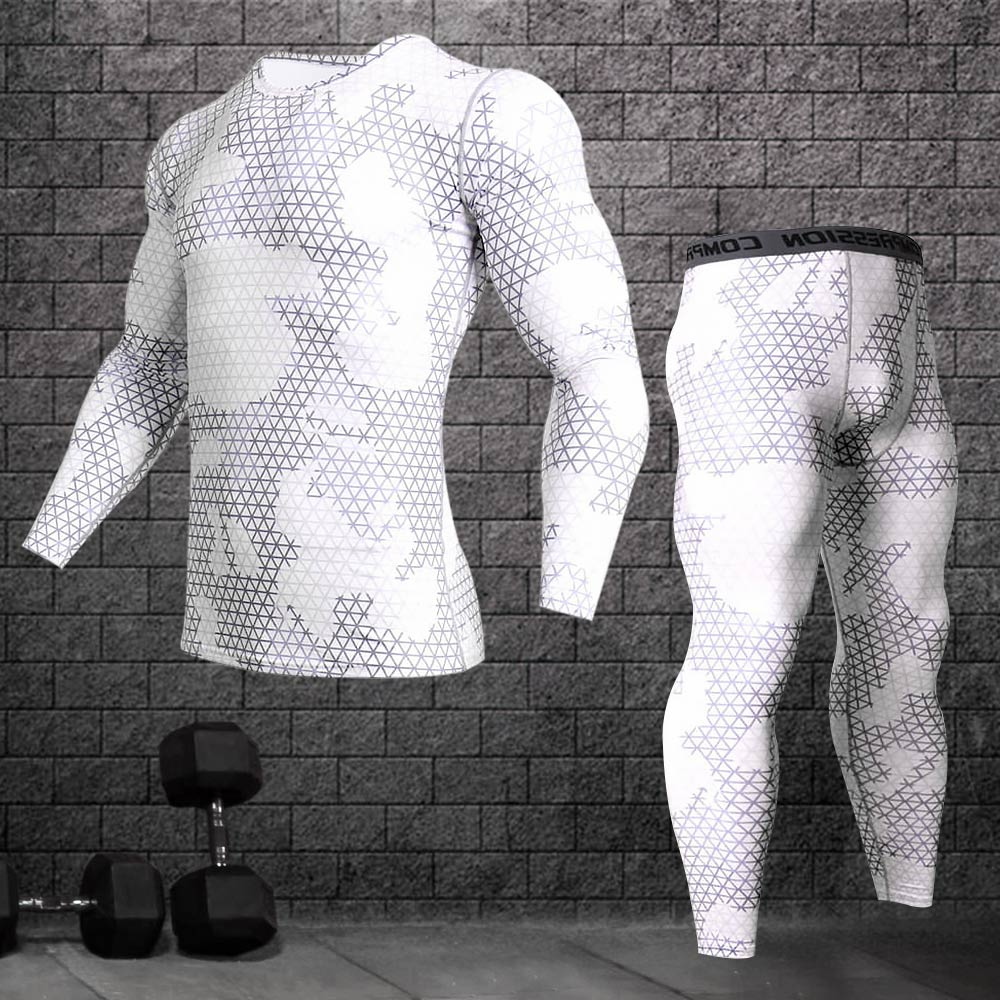 Compression Quick-drying Male Sports Training Suit Gym Jogging Running Suit Tight Fitness Workout Clothes