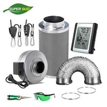 4 5 6 8 10 12 Air Carbon Filter& Inline Fan& Ducting Hydroponic Purifier Grow Tent Kits Odor Control Ventilation