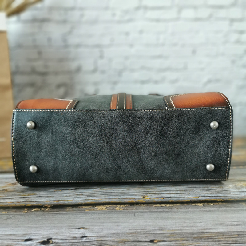 Image 4 - Genuine Leather Vintage Women Bags Luxury Handbags Tote High  Quality Designer Crossbody Bags for Women Messenger Shoulder  BagShoulder Bags