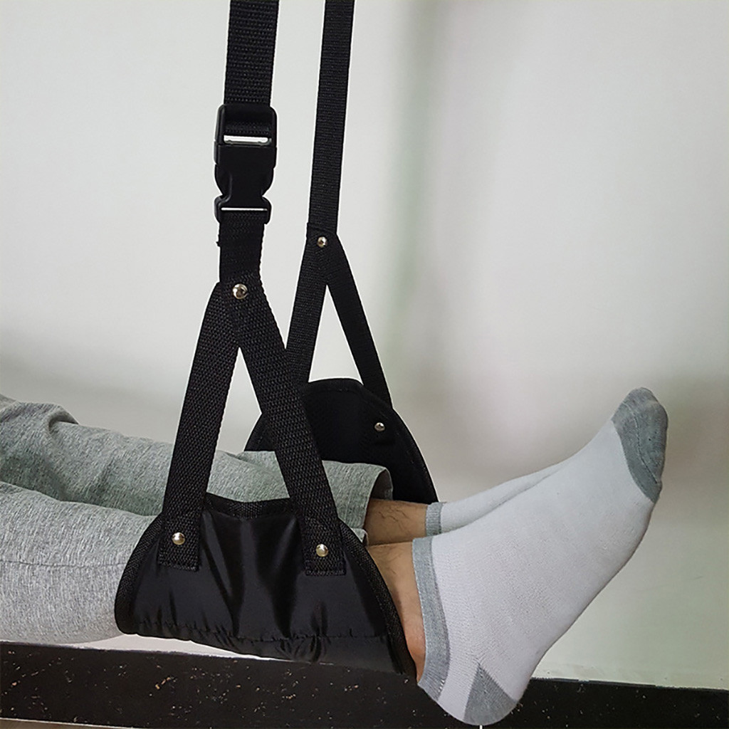 Comfy Hanger Travel Airplane Footrest Hammock Made With Premium Memory Foam Foot Resting Hammock For Office Outdoor Travel 8.30