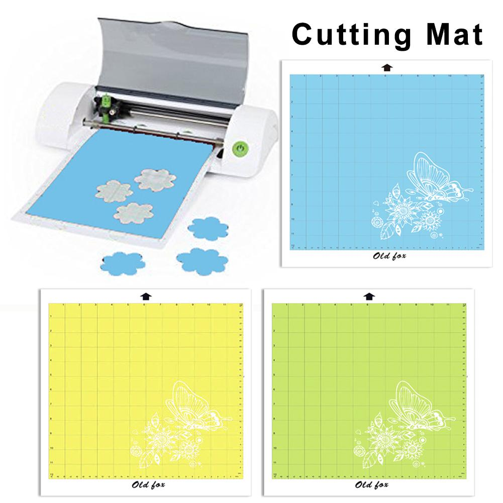Replacement Cutting Mat 3 Color Adhesive Mat Pad With Measuring Grid 12 By 12-Inch For Silhouette Cameo Plotter Machine