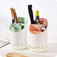 Multi-grid kitchen kitchenware storage rack chopsticks tube drain knife spoon