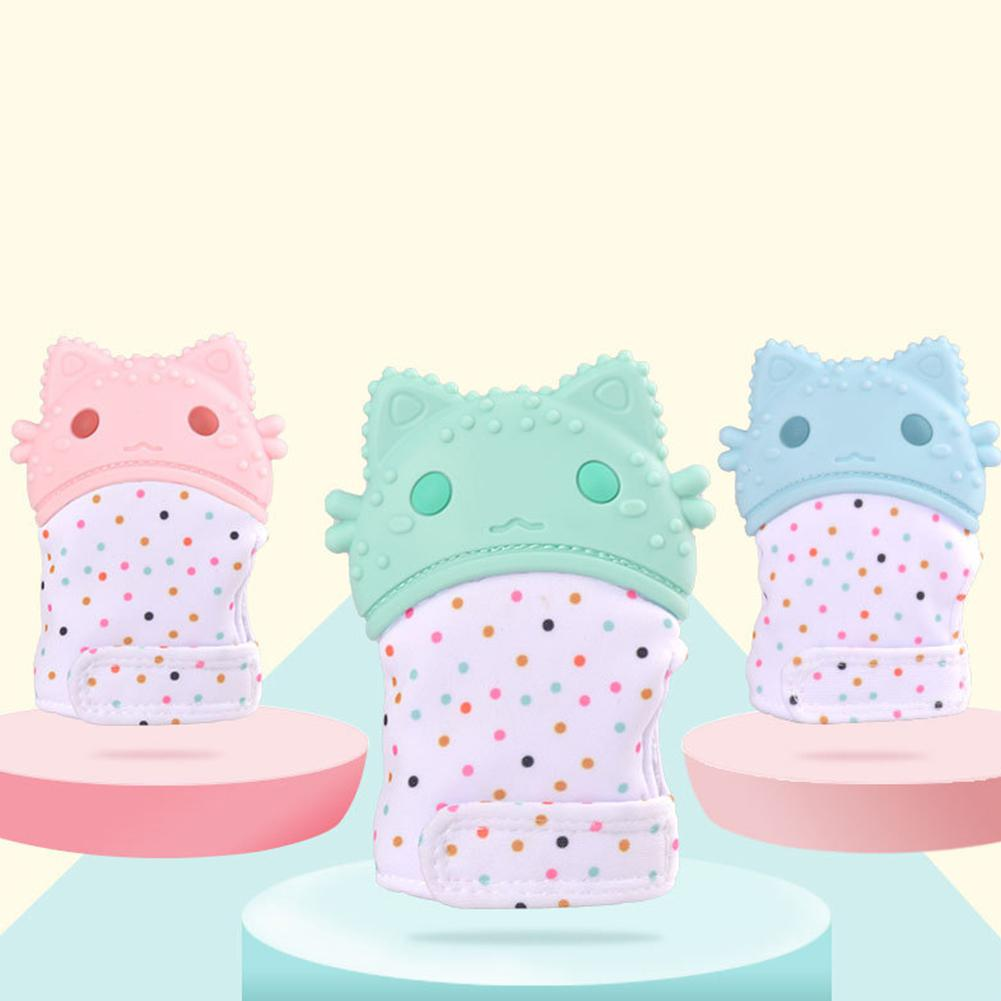 Kuulee Baby Teeth Silicone Tooth Grinding Gloves For Baby Anti-bite Hand Grinding Toy