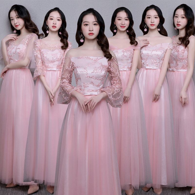 Pink Burgundy Bridesmaid Dress Junior Guest Wedding Party Sweetheart Tulle Sexy Formal Plus Size Long Prom New Years Eve Dress