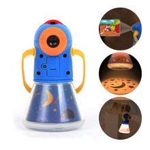Baby Sleep Story Projection Lamp Children Projector Flashlight 8 Fairy Tales Movies Portable MultiFunction Educational Toy