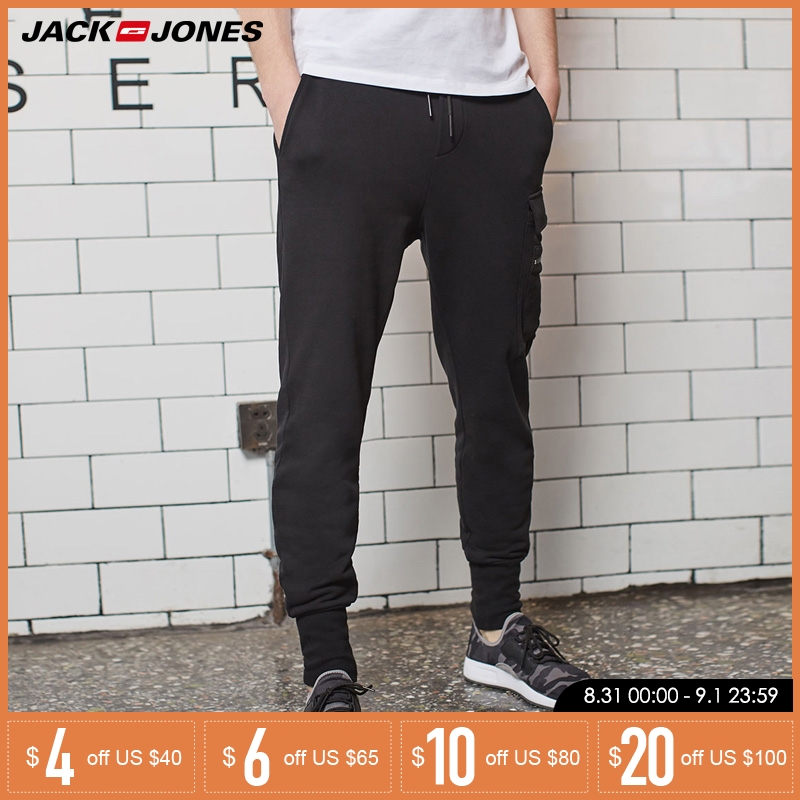 Jack Jones Men Cotton Casual Pants Joggers Trousers Men Streetwear | 218114526