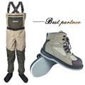 Fliegen Angeln Kleidung Waders Outdoor Jagd Waten Hosen und Schuhe Overalls Filz Sohle Angeln Stiefel Rock Aqua Schuhe FXM1