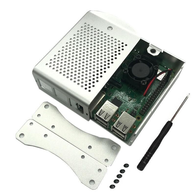 Promotion-Raspberry Pi 3 B + (B Plus) Kit de démarrage Quad Core 1.4Ghz 64 bits processeur + boîtier en alliage d'aluminium