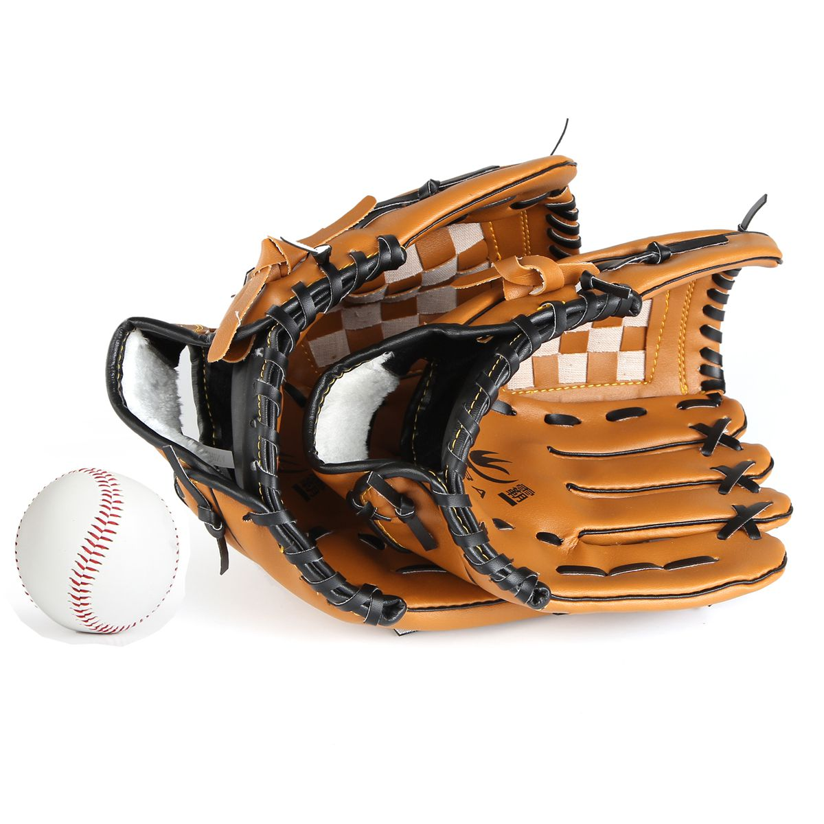 Batting Leather Baseball Glove Right Baseball Equipment Catcher Practice Hand Weighted Guante Beisbol Sports Accessories BJ50ST