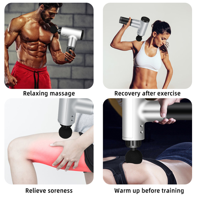 Massage Gun Back Body Fitness Massager to Increase Muscle Pain Relief Weight Loss Expert and Muscle Relaxation 3