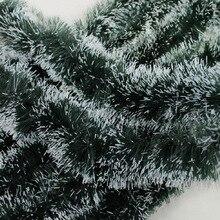 2 м латте искусство шерстяные топы Madder Рождественская елка украшения Рождественское украшение подарок Рождество черно-зеленый белый край ленты