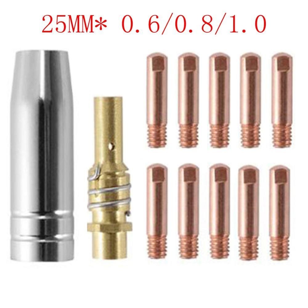 Nozzle Part Tool Set Conductive Nozzle Protection Connecting Rod MB-15AK MIG/MAG M6 Welding Weld Torch Contact Tips Holder Gas