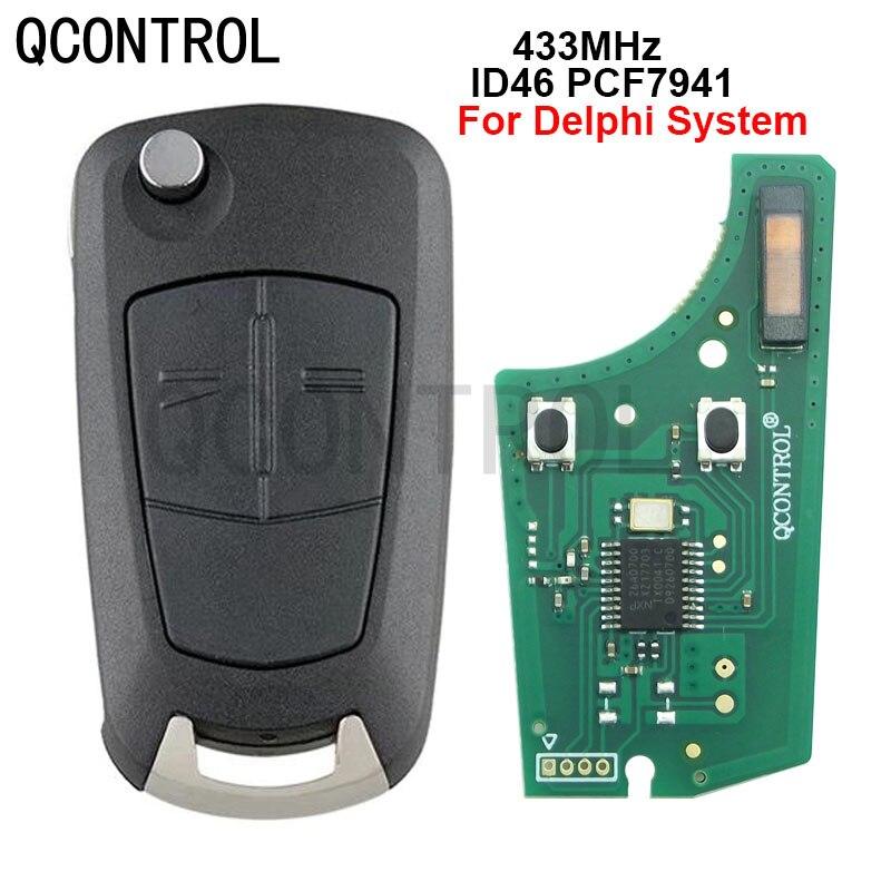 QCONTROL, встроенная печатная плата, подходит для автомобильного дистанционного ключа 433 МГц PCF7941, подходит для Opel/Vauxhall Corsa D 2007-2012, Meriva B 2010-2013