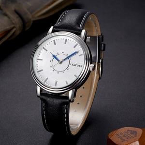 YAZOLE, мужские часы, модные, relogio masculino, простые, кожа, кварцевые, наручные часы, высокое качество, водонепроницаемые, мужские часы, reloj hombre