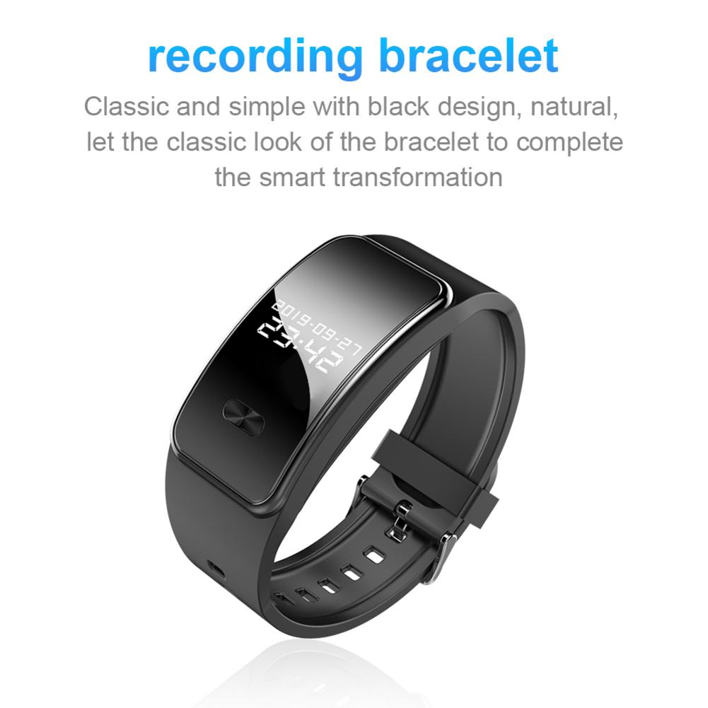 Portable Audio Recording Smart Bracelet HIFI Stereo Bass MP3 Player Voice Recorder Watch 16GB Voice Activated Recording