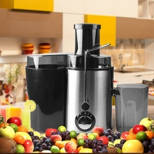 Large Stainless Steel Electric Juicers Multifunctional Juicer Fruit and Vegetable Juice Fruit Drinking Machine Home Commercial E home use multifunctional zzj1 sugarcane juice machine electric fruit vegetable drinking machine juicer baby juice machine 220v
