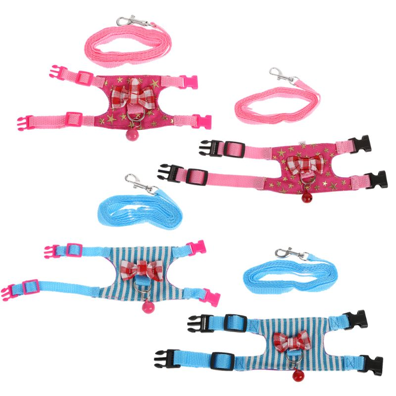 Small Pet Hamster Rabbit Harness Leash Set For Ferret Guinea Pig Small Pet Chest Strap