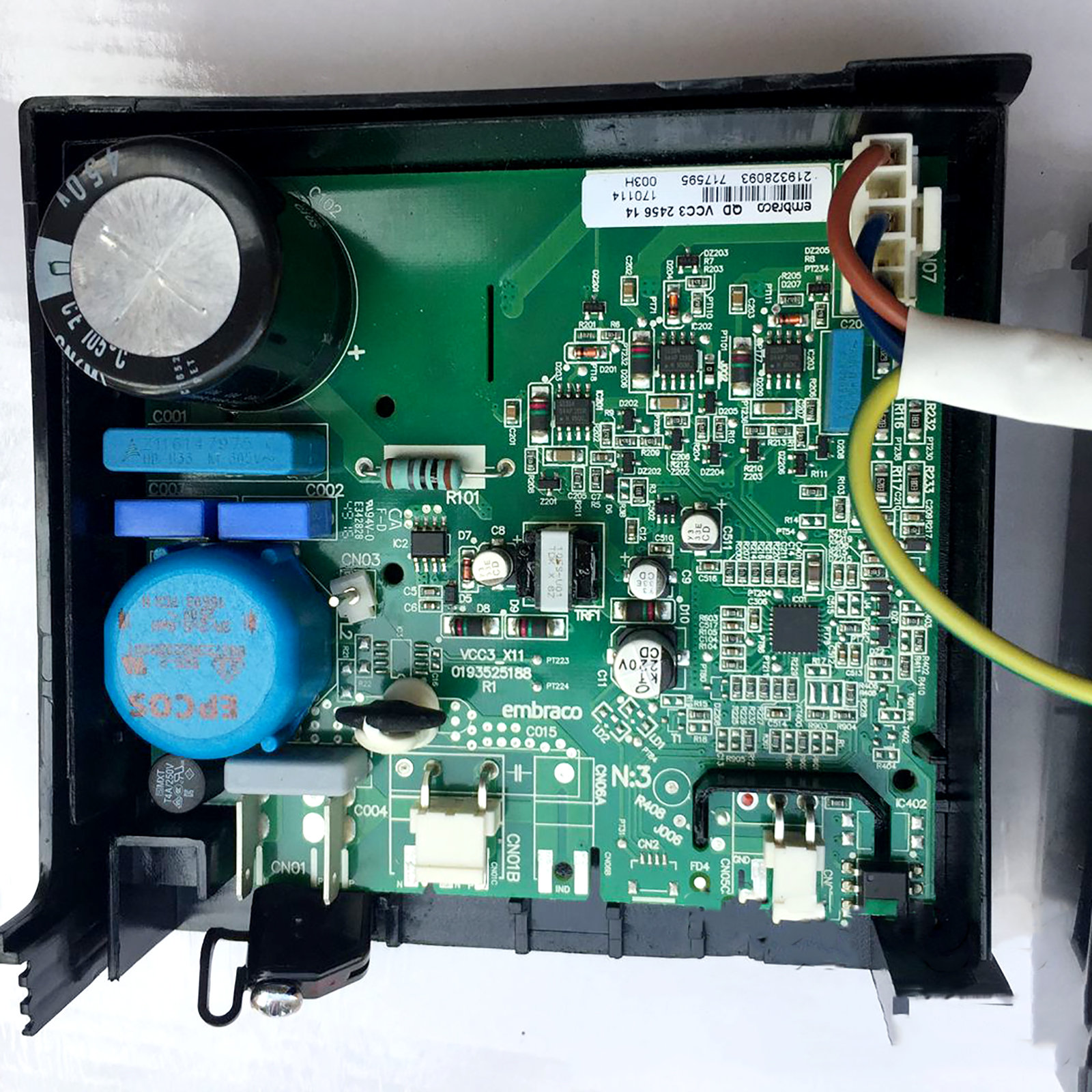 For Hair Meiling Refrigerator Inverter Board Driver Board 0193525188 Embraco QD VCC3 2456 14 F 02 Refrigerator Parts